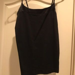 Adjustable strapped silk top and stretchy tank